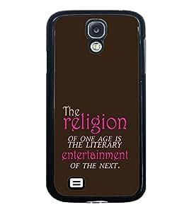 PrintVisa Designer Back Case Cover for Samsung Galaxy S4 Mini I9195I :: Samsung I9190 Galaxy S4 Mini :: Samsung I9190 Galaxy S Iv Mini :: Samsung I9190 Galaxy S4 Mini Duos :: Samsung Galaxy S4 Mini Plus (Quote Religion Age Literary Entertainment Typography)
