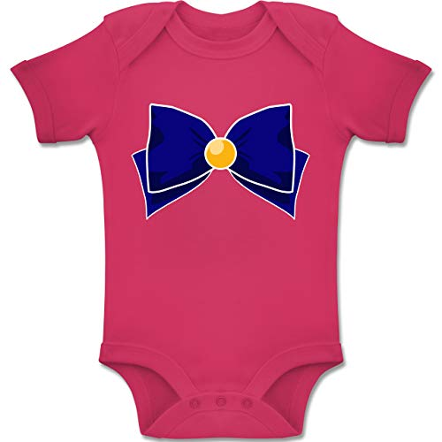 Shirtracer Karneval und Fasching Baby - Superheld Manga Venus Kostüm - 12-18 Monate - Fuchsia - BZ10 - Baby Body Kurzarm Jungen ()