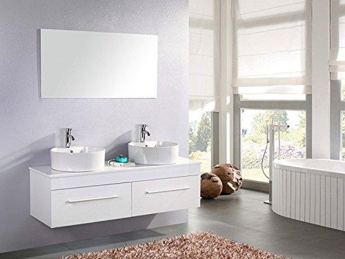 Mobile bagno doppio lavabo arredo bagno completo 150 cm rubinetti white cardellino