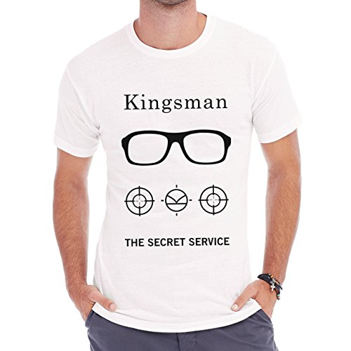 The Kingsman The Secret Service All Black And White Poster Herren T-Shirt Weiß