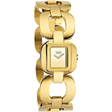 D&G Dolce&Gabbana DW0712 - Reloj analógico de mujer de cuarzo con correa de acero inoxidable dorada