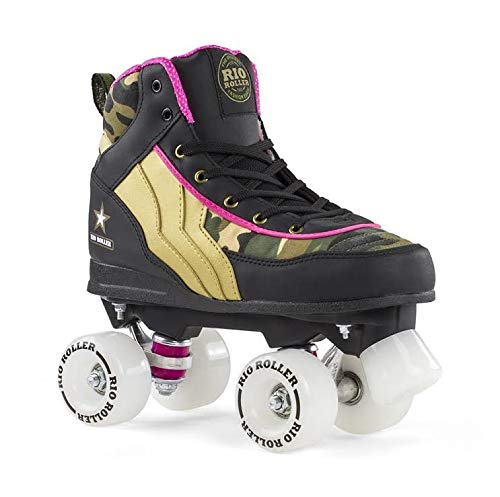 Rollers en ligne et patins à roulettes Rio Roller Kicks Quad Skate Patins Unisexe pour Adultes