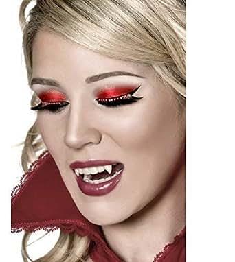 Ladies Long Black Red Diamante False Eyelashes Halloween