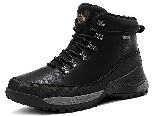AX BOXING Hombre Botines Zapatos Botas Nieve Invierno Botas Impermeables Fur Forro...