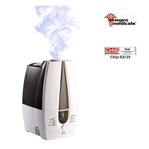 newgen medicals Ionisator: Luftbefeuchter LBF-440 mit Timer und Ionisation (Ionisator Luftreiniger)