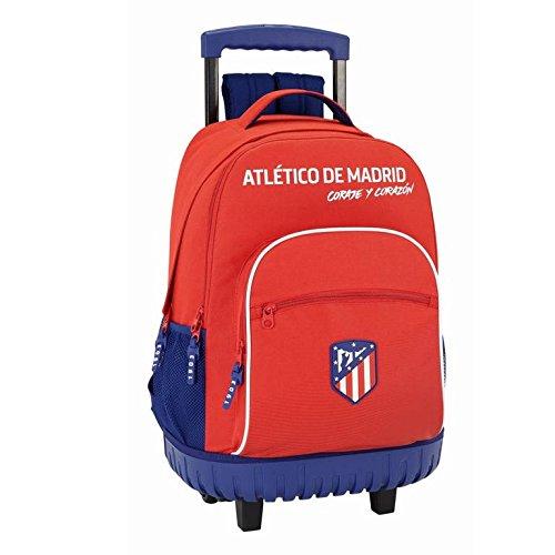 Safta Mochila Escolar Grande Con Ruedas Atlético De Madrid'Coraje' Oficial 320x140x460mm