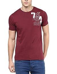 Elaborado Men Round Neck Tshirt - Deep Red