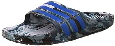 Adidas Men's Duramo Slide White, Blue and Green Flip-Flops and House Slippers - 14 UK/India (50 EU)