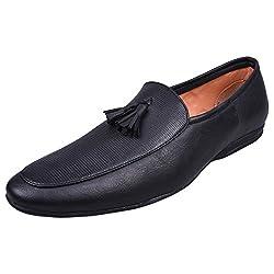 Andrew Scott Mens Black Loafers