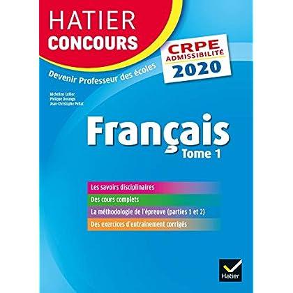 Français tome 1 - CRPE 2020 - Epreuve écrite d'admissibilité