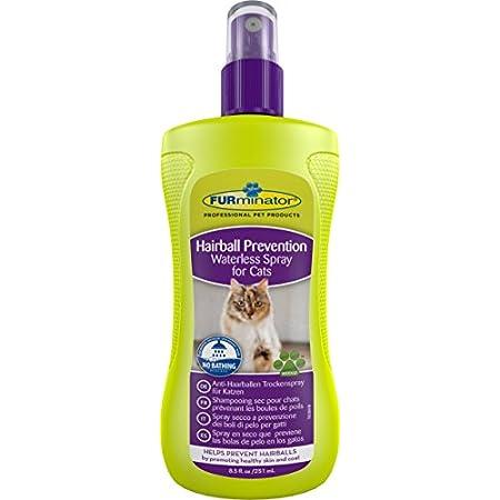 FURminator Anti-Haarballen Spray Trockenspray für Katzen, hilft übermäßiges Haaren zu reduzieren ohne zu baden, wirkt…
