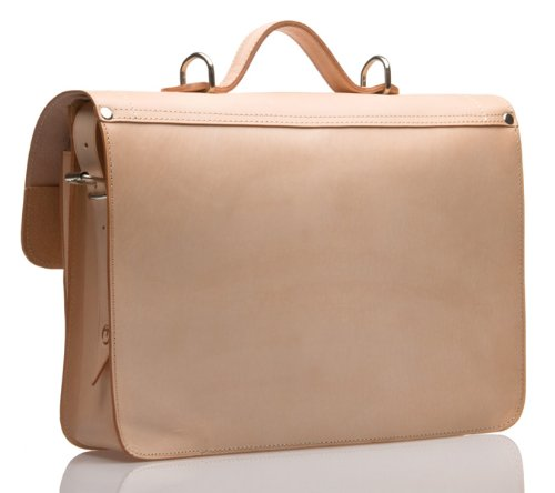 UBERBAG Windsor Stone Crazy Horse in pelle borsa/cartella/Zaino/Borsa Per Laptop bianco Natural medium Natural