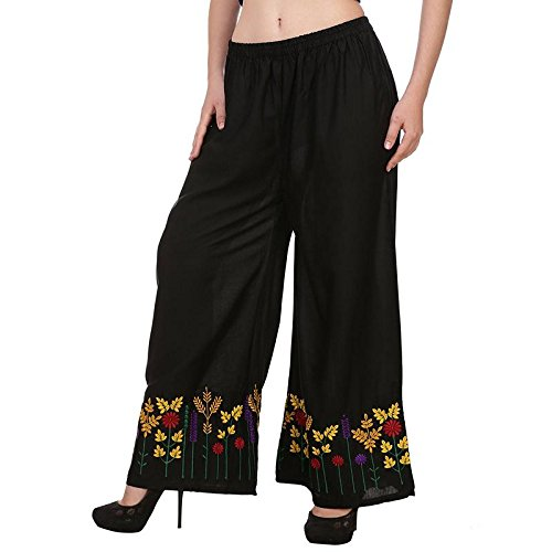Jenee Ventures Stylish Fashionable Plazo for Women with Beautiful Floral Embroider. Designer...