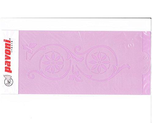 ablone Blumen-Kreise, Airbrush Vorlage ca. 26,0 cm x 12,5 cm, Kunststoff ()