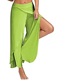 773eb646217e Hibote Chiffon Pants Women Yoga Pants Bloomers Sexy Split Loose Harem Pants  Soft Comfortable Aladdin Trousers