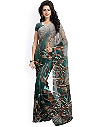 Vaamsi Polygeorgette Saree with blouse piece (Raga3102_ Multicoloured_ One Size)