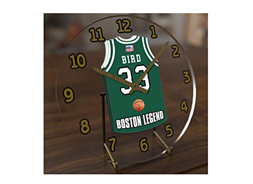 Larry Bird 33???Boston Celtics NBA Basketball Jersey Desktop-Uhr???Sporting Legends Limited Edition -