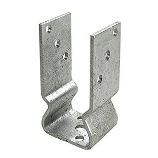 Connex Pfostenträger 91 x 150 x 60 x 4 mm mit Sicke, Material: feuerverzinkt, 1 Stück, HV4282