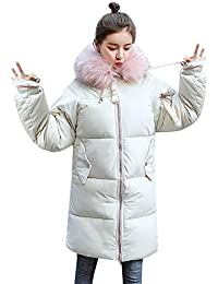 MRULIC Damen Wintermantel Lange und kurzer Daunenjacke Jacke Outwear Frauen  Winter Warm Daunenmantel Solide Lässig Dicker eb36029bc4
