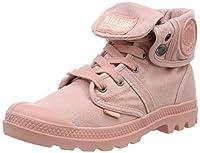 Palladium Womens Lace Up Boots Pink