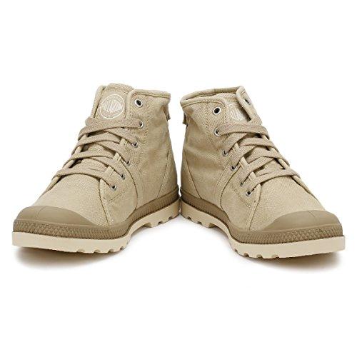 Palladium Pallabrouse Mid Lp, Sneakers Basses Femme Beige (Sahara/ecru)