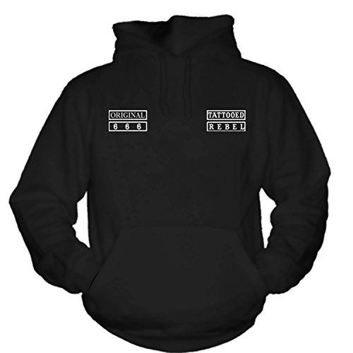 shirtmachine Tattooed Rebel -World- Hoodie (XXXL)
