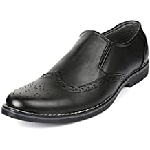 Escaro Men's Faux Leather Formal Brogue Dress Shoes
