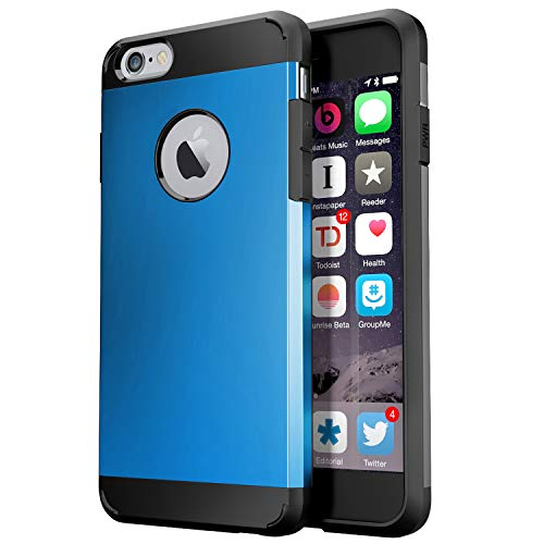 Zitto iPhone 6S Hülle, iPhone 6 Hülle Dual Layer Protective Armor Shock Absorptive Case für iPhone 6S/iPhone 6 - iPhone 6S Hülle, Stoßfeste Hybrid-Hartschale, blau