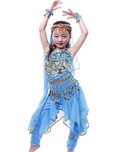 ante Bauchtanz Halloween Karneval Kostüme Sky Blue M (Über Bauchtanz Kostüme)