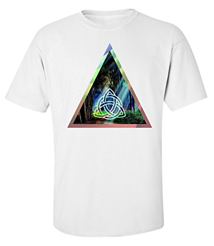 fantasy-forest-mystic-sign-triangle-logo-dope-t-shirt-homme-coton-x-large