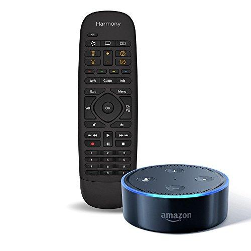 amazon-echo-dot-2nd-generation-black-logitech-harmony-companion-remote-and-hub-bundle