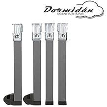 Dormidán - Patas cuadradas de 30cm para somier con bastidor de 30x30mm, dispone de ruedas en dos patas (30 cm)