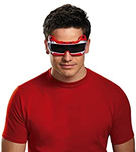Mighty Morphin Power Rangers Red Ranger Adult Costume Glasses