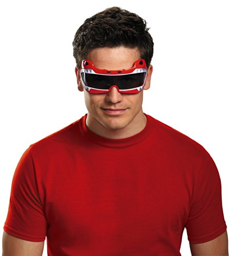 Rangers Red Samurai Kostüm Power - Power Rangers Red Ranger Costume Accessory Glasses