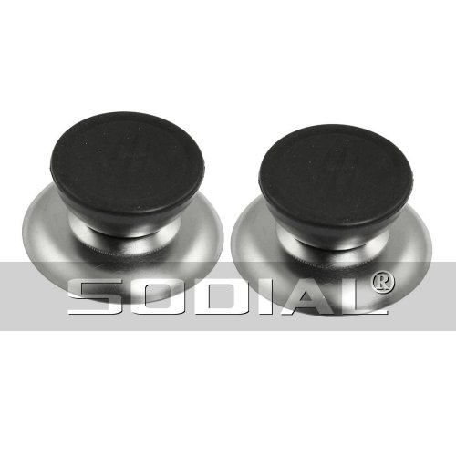 Sodial(R) - Pomello tondo di ricambio per coperchi pentole da cucina, 2 pezzi