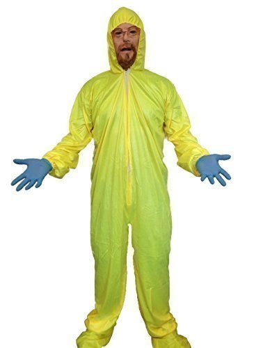 Bad Erwachsene Breaking Hazmat Anzug Kostüm Für - Breaking Bad Costume Yellow Hazmat Suit Gas Mask Walter White Fancy Dress