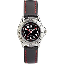 Hot Shot Jungen - Armbanduhr Analog Quarz 5 bar Schwarz A65149SS5A