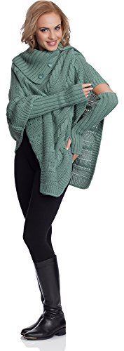 Merry Style Donna Poncho Noemi Menta