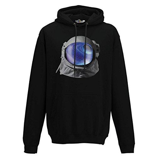 Hoodie Kapuzen-sweat-Shirt Helm Astronaut Universum-Raumes-Bild Planet Erde (Hoodie Transformatoren)