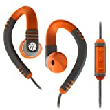 Yurbuds Adventure Line Explore Pro Behind-The-Ear-Fit Sports Headphones with 3-Button Microphone Compatible with Apple Devices - Orange/Grey