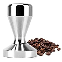 51mm Solid Iron with Chrome Plated Base Coffee Tamper for Espresso Coffee Machines Silver Color Press Coffee Grind