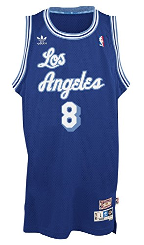 best sneakers 8c964 2939f Kobe Bryant Los Angeles Lakers Adidas NBA Throwback Swingman Jersey Maglia  - Blue