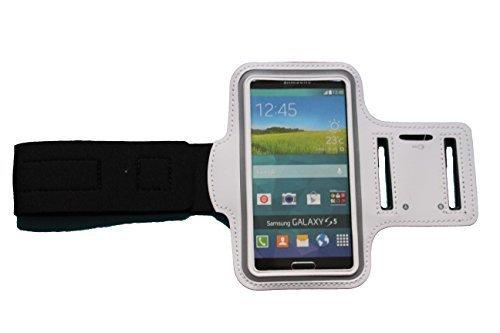 Sport-armband Weiss, Fitness-hülle Running Handy Tasche Case für Apple ipod touch g iphone 3 4 5 S C, Samsung Galaxy 3 und 4 mini, Huawei Y330, Nokia Lumia 530, 532 mit Kopfhöreranschluss - Dealbude24 (Weiss) (Ipod Weiß Apple Touch)