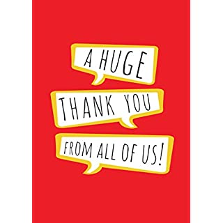A Huge Thank You From All of Us A4 Card - Large Thank You Card, Large Leaving Card, Large Teacher Card