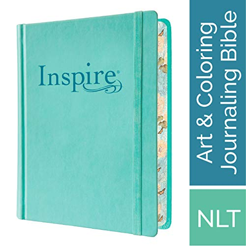 Tyndale NLT Inspire Bible (Hardcover, Aquamarine): Journaling Bible with  Over 400 Illustrations to Color, Coloring Bible with Creative Journal Space  -