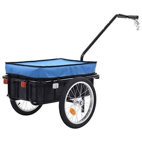 vidaXL Remorque de Bicyclette Chariot à Main Remorque pour Vélo Remorque à Bagages 50 kg Chariot...