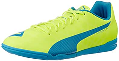 Puma Men's evoSPEED5.4IT Safety Yellow, Atomic Blue and White Football Boots - 11 UK /India(46EU)