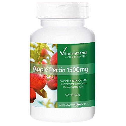 Pectina de Manzana 1500mg - Fibra natural - 300 Comprimidos - Beneficiosa para la flora intestinal y el sistema inmunológico
