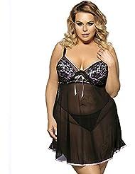 DFHHG® Tamaño grande falda de sueño sexy diversión ropa interior vestido de mujer falda pijama Lencería sexy ( Color : #2 , Tamaño : XXXXL )
