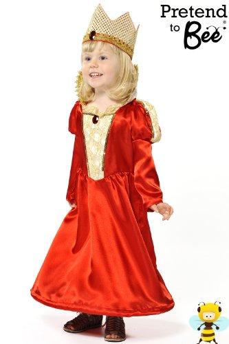 Red Queen - Kids Costume 3 - 5 (Elizabeth Kostüm Zubehör Queen)